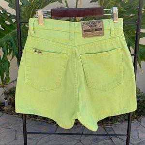 90's vintage light green jean shorts by Jordache
